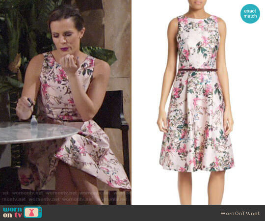 Ted Baker Clarbel Dress worn by Melissa Claire Egan on The Young & the Restless
