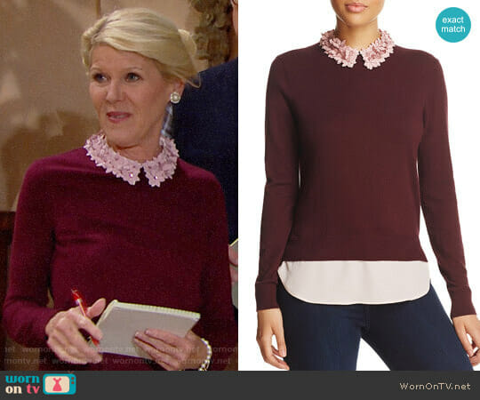 Ted Baker Nansea Sweater  worn by Pamela Douglas (Alley Mills) on The Bold & the Beautiful