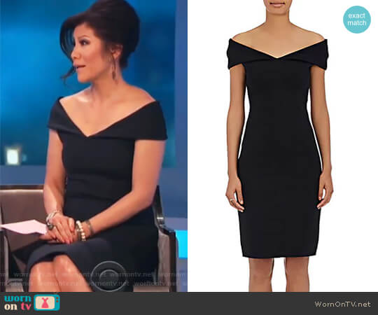 Shelmi Neoprene Off-The-Shoulder Dress by The Row worn by Julie Chen  on Celebrity Big Brother