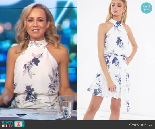 Izzy Ruffle Dress by Tussah worn by Carrie Bickmore  on The Project