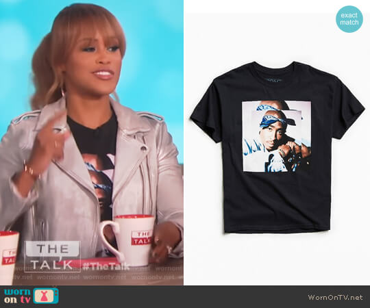 Tupac Blues Tee by Urban Outfitters worn by Eve  on The Talk