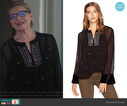 Becky Top by Velvet by Graham & Spencer worn by Joan Short (Dianne Wiest) on Life in Pieces