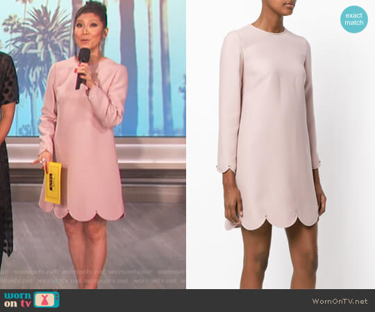 Scalloped Shift Dress by Valentino worn by Julie Chen (Julie Chen) on The Talk
