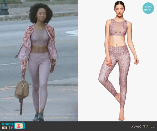 'Terri' Crop Sports Bra and 'Biona' Legging by Varley worn by Monica Colby (Wakeema Hollis) on Dynasty