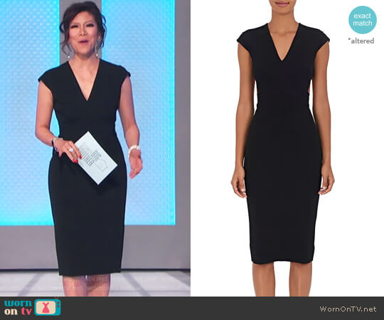 Cutout-Back Compact Knit Dress by Victoria Beckham worn by Julie Chen  on Celebrity Big Brother
