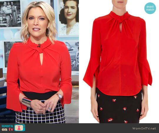Knotted Silk Blouse by Victoria Beckham worn by Megyn Kelly on Today