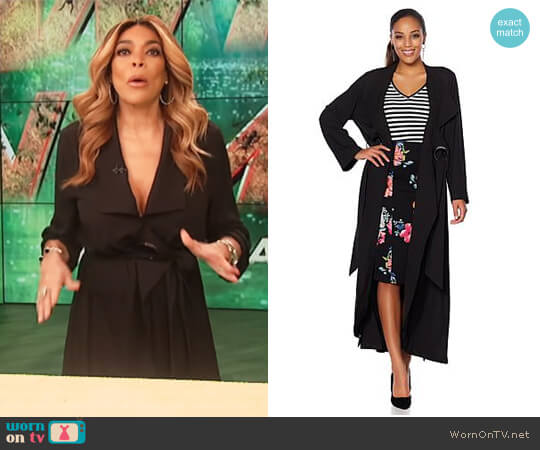 Crepe Trench with Grommet Belt Loop by Wendy Williams HSN Collection worn by Wendy Williams  on The Wendy Williams Show