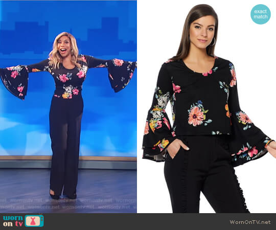 Drama Bell Sleeve Ponte Top by Wendy Williams HSN Collection worn by Wendy Williams on The Wendy Williams Show