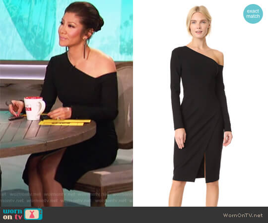 Fitted One-Shoulder Dress by Yigal Azrouel worn by Julie Chen  on The Talk