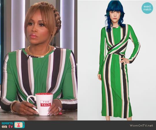 Striped Dress by Zara worn by Eve (Eve) on The Talk