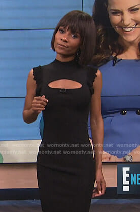 Zuri's black cutout sleeveless dress on E! News