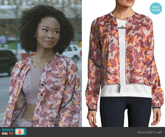 Adizero Printed Lightweight Running Jacket by Adidas by Stella McCartney worn by Monica Colby (Wakeema Hollis) on Dynasty