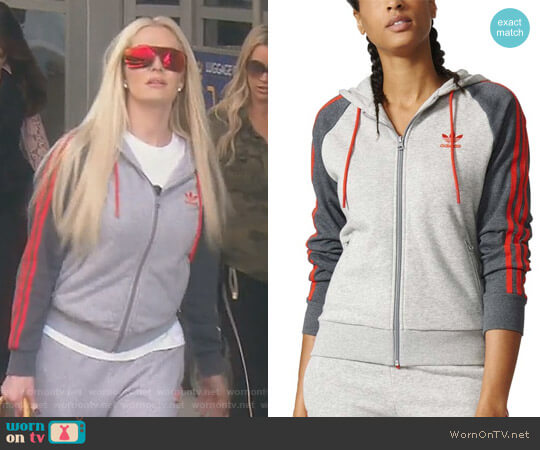 Adidas Originals Girly Zip Hoodie by Adidas worn by Erika Girardi on The Real Housewives of Beverly Hills