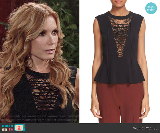 ALC Marin Lace Panel Top worn by Lauren Fenmore (Tracey Bregman) on The Young & the Restless