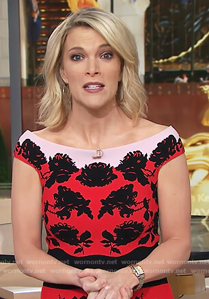 Megyn's red floral dress on Megyn Kelly Today