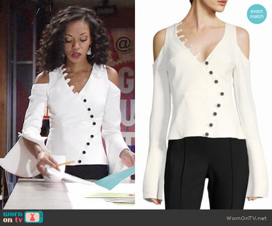 Alexis Noere Top worn by Hilary Curtis (Mishael Morgan) on The Young & the Restless