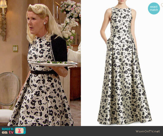 Alice + Olivia Drea Gown worn by Pamela Douglas (Alley Mills) on The Bold & the Beautiful