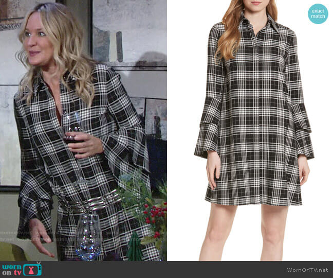 Alice + Olivia Jem Shirt Dress worn by Sharon Collins (Sharon Case) on The Young & the Restless