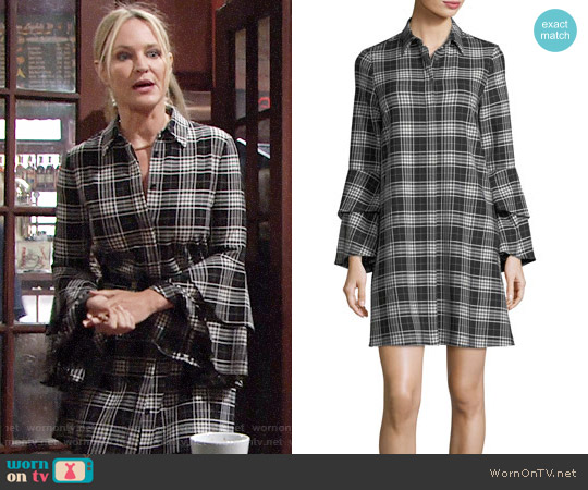 Alice + Olivia Jem Shirt Dress worn by Sharon Case on The Young & the Restless