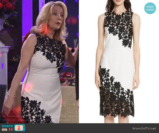 Alice + Olivia Margy Dress worn by Melody Thomas-Scott on The Young & the Restless