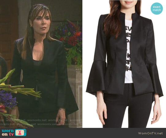 'Ivana' Waterfall Sleeve Blazer by Alice + Olivia worn by Lauren Koslow on Days of our Lives