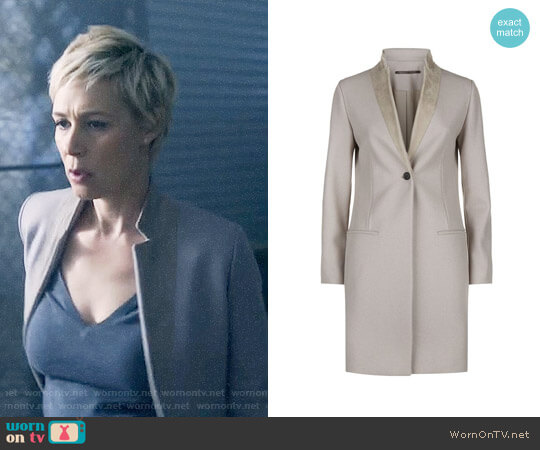 All Saints Leni Coat worn by Liza Weil on HTGAWM
