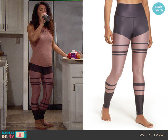 Alo Yoga Airbrush High Waist Leggings worn by Jacqueline MacInnes Wood on The Bold & the Beautiful