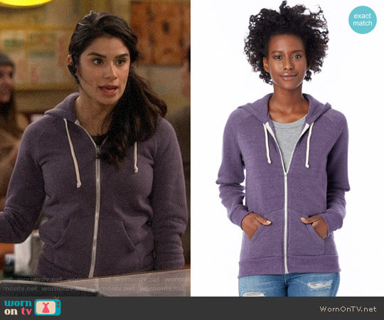 Alternative Eco True Deep Purple Adrian Hoodie worn by Sofia (Diane Guerrero) on Superior Donuts