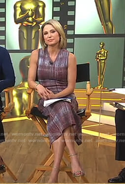 Amy's plaid midi dress on Good Morning America