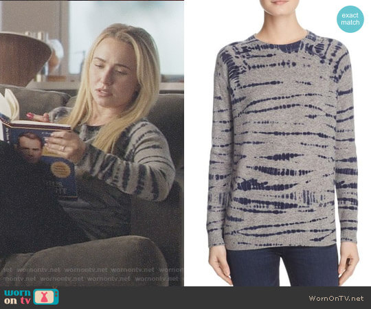 Aqua Cashmere Tie-Dye Crewneck Sweater worn by Hayden Panettiere on Nashville