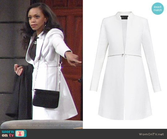 Bcbgmaxazria Arelia Coat worn by Hilary Curtis (Mishael Morgan) on The Young & the Restless