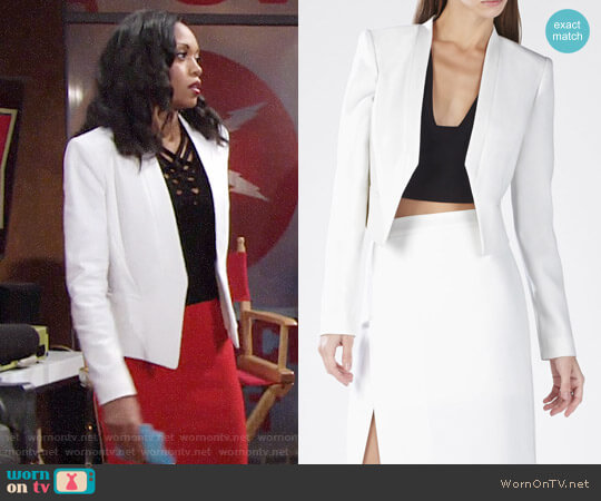 Bcbgmaxazria Bren Jacket worn by Hilary Curtis (Mishael Morgan) on The Young & the Restless
