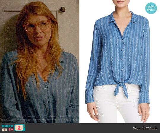 Bella Dahl Striped Tie Front Shirt worn by Connie Britton on 9-1-1