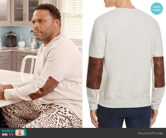 Billy Reid Dover Sweatshirt worn by Anthony Anderson on Blackish