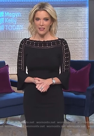 Megyn's black laser cutout dress on Megyn Kelly Today