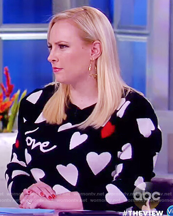 Meghan's black love heart knitted sweater on The View