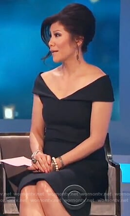 Julie's black off shoulder dress on Celebrity Big Brother