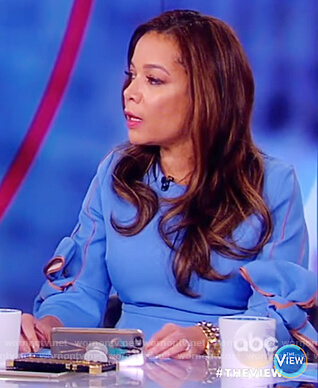Sunny's blue ruffle dress on The View