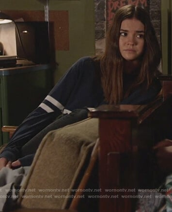 Callie's navy double stripe sweater on The Fosters