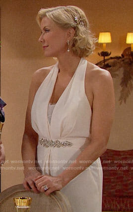 Brooke's wedding jumpsuit on The Bold and the Beautiful