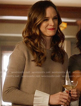 Caitlin's sweater dress on The Flash