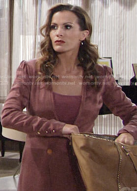 Chelsea's pink blazer dress on The Young and the Restless