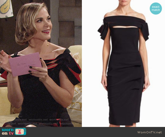 Chiara Boni La Petite Robe Strappy Cocktail Dress worn by Phyllis Newman (Gina Tognoni) on The Young & the Restless