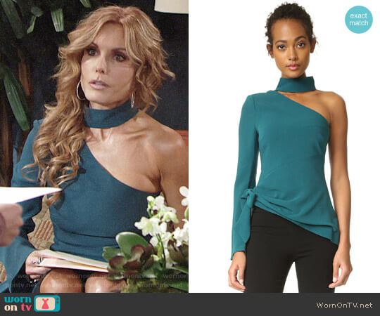 Cinq a Sept Briah Top worn by Lauren Fenmore (Tracey Bregman) on The Young & the Restless