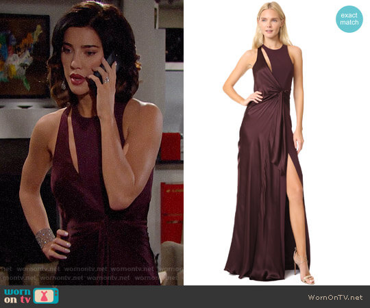 Cinq a Sept Clemence Gown worn by Steffy Forrester (Jacqueline MacInnes Wood) on The Bold & the Beautiful