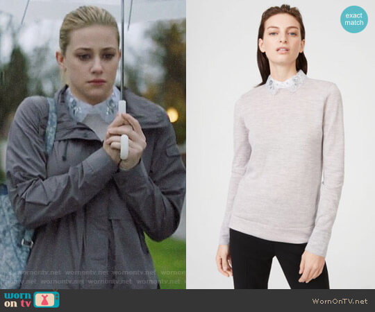 Club Monaco Joannah Sweater worn by Betty Cooper (Lili Reinhart) on Riverdale