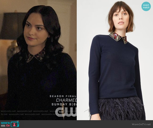 Club Monaco Joannah Sweater worn by Veronica Lodge (Camila Mendes) on Riverdale
