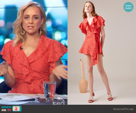 More to Give Playsuit by C/Meo Collective worn by Carrie Bickmore  on The Project