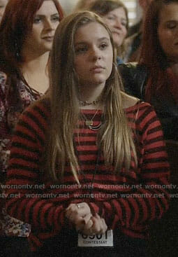 Daphne's red striped top on Nashville
