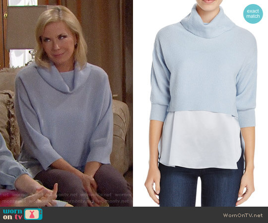 Elie Tahari Claudetta Sweater worn by Brooke Logan (Katherine Kelly Lang) on The Bold & the Beautiful